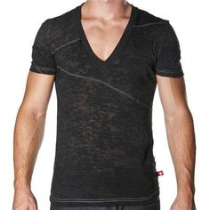 The Bowery SKINNY Core Tee by Andrew Christian in Black