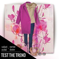 Spring has sprung, and it's time to test a new trend! #RadiantOrchid is this year's signature color- how about a narrow leg denim pick to match! Shop this #Slimsation pant style online soon! #TestTheTrend #Spring #Style