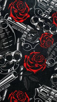Guns and Roses iPhone Wallpaper - iPhone Wallpapers