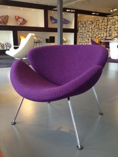 Artifort classic design chair in cranberry Braemar - we want!