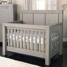 """Oxford Baby Piermont 4-in-1 Convertible Crib - Rustic Stonington Gray - Oxford Baby - Babies """"R"""" Us"""