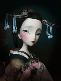 """Madame Butterfly"", by Julien Martinez (after illustration by Benjamin Lacombe)."