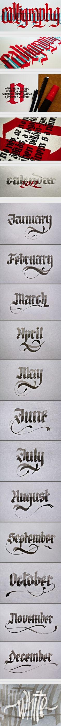 Calligraphy by Renato Molnar, via Behance