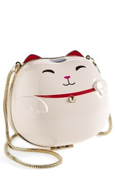 kate spade new york 'lucky cat' clutch available at #Nordstrom