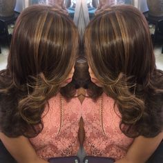 Chocolate Hair with Caramel Highlights Chocolate Hair With Caramel Highlights, Lightening Dark Hair, Hairstyles Haircuts, Hair Colors, Beautiful Things, Hair Makeup, Hair Cuts, Hair Styles, Beauty