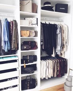 Closet Organization Ideas - See extra ideas about Organizing tips, Walk in Closet and also Walk in wardrobe . Master Closet, Closet Bedroom, Closet Space, Home Bedroom, Bedrooms, Ikea Pax Closet, Ikea Pax Wardrobe, Bathroom Closet, Ikea Bedroom