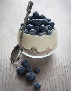 Blueberries + vanilla yogurt!