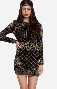 Glamorous Baroque Sweater Dress  Too Short for Me but It's still cute enough to make it in My Dream Wardrobe!