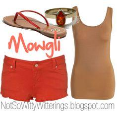 Mowgli - The Jungle Book outfit, tan and orange, summer