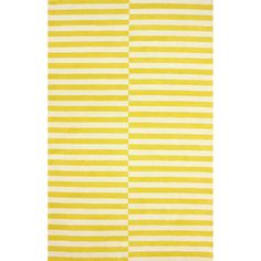 nuLOOM Hand-tufted Modern Stripes Yellow New Zealand Wool Area Rug (5' x 8') | Overstock.com Shopping - Great Deals on Nuloom 5x8 - 6x9 Rugs