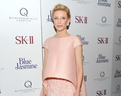 #Floral #outfits: Cate Blanchett, en Nueva York