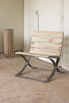 Kalalou Recycled Wood Barcelona   Inspired Chair