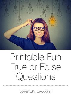 True and false questions test your knowledge and get you thinking about fun facts you may otherwise not consider. Questions can be an icebreaker or just add fun to any occasion. Funny Quiz Questions, True Or False Questions, About Me Questions, This Or That Questions, Free Quizzes, Relationship Games, False Facts, Elderly Activities, Question Game