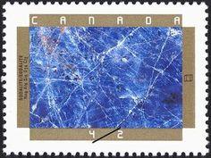 Sello: Sodalite (Canadá) (150th Anniv. of Geological Survey of Canada.  Minerals) Mi:CA 1319,Sn:CA 1437,Yt:CA 1274,Sg:CA 1510