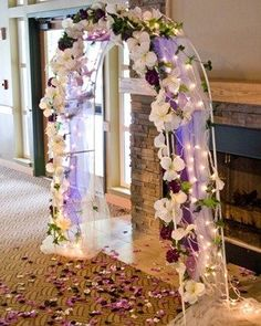 Draped Wedding Arch with lights | wedding ideas | Pinterest | Arch ...