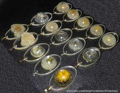 Dandelion pendant Real dried dandelions by CreationsOfTrueFairy