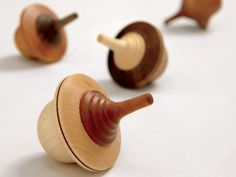 Mader Wooden Spinning Tops, Duet, pucciManuli