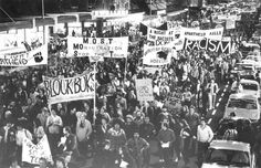 Anti-apartheid protest at Spring Boks tour (1981) In this July 3, 1981 photo, anti-apartheid demonstrators march through Auckland to protest the tour of South Africa's Springbok rugby union team. The tour had proceeded, in the face of bitter opposition from critics of South Africa's system.