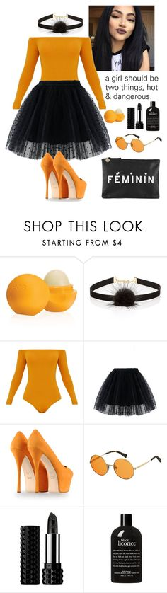 """""""#408"""" by mildabas ❤ liked on Polyvore featuring Eos, Jules Smith, Chicwish, Giuseppe Zanotti, Polaroid, Kat Von D, philosophy and Clare V."""