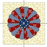 Free Dresden quilt pattern, love idea of monogram in the middle!