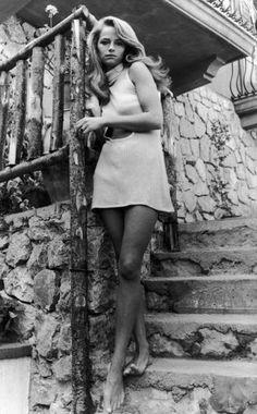 Charlotte Rampling at the Sorrento Festival; 1967.