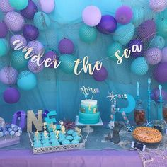 Under the Sea Party, Mermaid Party, Sea Party Banner, Birthday Decorations, Beach Party, Summer Party, Pool Party, Tropical Party Decor