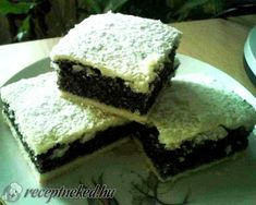 Mákos pite My Recipes, Healthy Recipes, Hungarian Recipes, Homemade Cakes, Biscotti, Main Dishes, Bakery, Deserts, Vegetarian