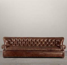 9' Churchill Leather Sofa with Nailheads