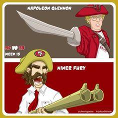 Niner Miner #doodle of the week #49ers vs #TampaBay #NFL #Doodlefreak #picoftheday #instacool #NinerEmpire #goldblooded #SanFrancisco