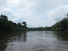 The Ogooue River cuts through rainforest south of Lambarene, Gabon, Central Africa. The century explorer Savorgnan de Brazza reported to his French sponsors that the river above Lambarene was unsuitable as a trade route due to rapids. 19th Century, Africa, River, French, Explore, Outdoor, Outdoors, French Language, Rivers