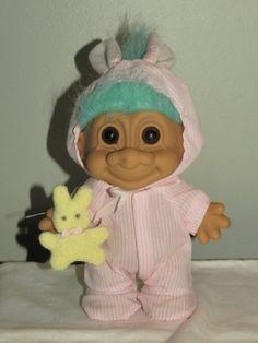PINK PAJAMA BUNNY Lucky Large 8 Inch Troll Doll (Aqua Hair) by Russ, http://www.amazon.com/dp/B008U7WNSC/ref=cm_sw_r_pi_dp_7wgkqb09C14NV