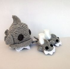 Crochet Baby Shark slippers house shoesCrochet by myknittingworld, $15.00