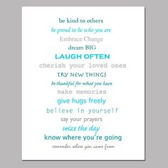 Inspiration  8 x 10 Print  Inspirational Quotes and by Tessyla, $20.00
