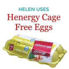 Helen Uses Henergy Cage Free eggs