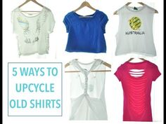 Ways to upcycled your old shirts ♥ - YouTube