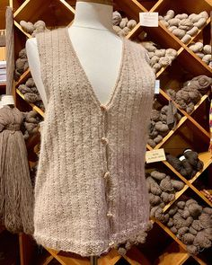Holiday attire - a casual, unique statement piece now off when shopping online. Farm Store, Wool Vest, Knitting Wool, Maine, Unique, Casual, Holiday, Shopping, Tops