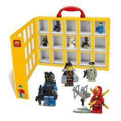 2015 New Portable Mini house figures Display Case Building Blocks Toys Storage Box  P149