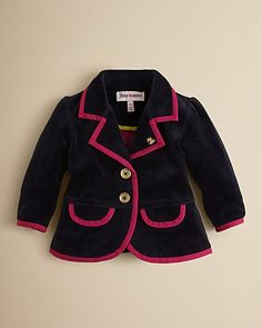 Juicy Couture Infant Girls' Velour Blazer - Sizes 3-24 Months | Bloomingdale's