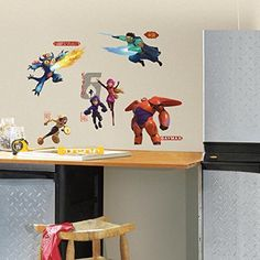 RoomMates Big Hero 6 Peel and Stick Wall Decals -- Check this awesome product by going to the link at the image.