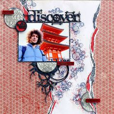 Dusty Attic DT Travel Layout - chipboard, stencil