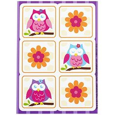 Owl Blossom Party Supplies - Sticker Sheets (4) >>> Learn more by visiting the image link.
