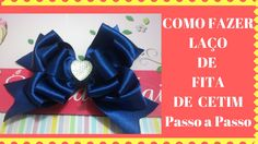 Youtube, Link, Satin Ribbons, Make Bows, Ribbon Bows, Step By Step, Flowers, Youtubers, Youtube Movies