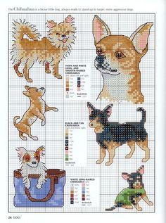 Cross Stitch Dogs Chart