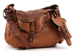 Lavata Shoulder Bag Leather cognac 44 cm