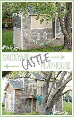 Backyard Castle Playhouse with Tour ~ Sugar Bee Crafts