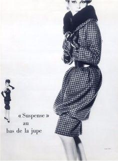 1959-60 - Victoire Doutreleau in Yves Saint Laurent for Christian Dior coat