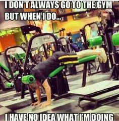 Still laughing #gym #humor