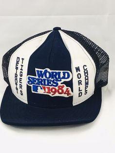 f638127fd63 Detroit Tigers 1984 World Series Champs MESH Snapback Cap Hat Trucker