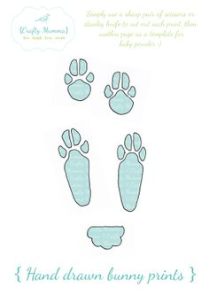 Free Printable Easter Bunny Paw Prints Template Front And Back Paws
