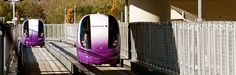 Heathrow Pod: 21 PRT vehicles facilitate the journey between the stations at the business car park and Terminal 5. The system's infrastructure is smoothly interwoven in between the access roads to the terminal. It greatly improves the link and offers a superior service to travelers. #advancedtransit
